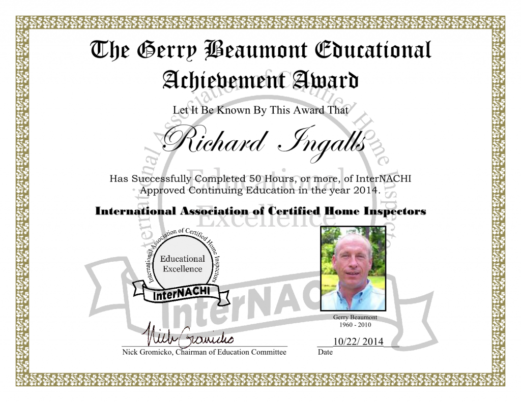 2014 Education Achievement Award